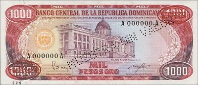 Dominikanische Republik / Dominican Republic 1000 Pesos Oro 1985 Pick 124s2 (1)