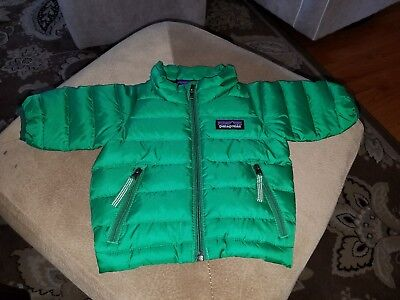 Patagonia Infant Baby NewBorn-3M Jacket Puffer Down Sweater Green