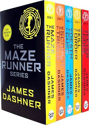 pack 5 libros THE MAZE RUNNER by JAMES DASHNER - ENGLISH Science Fiction