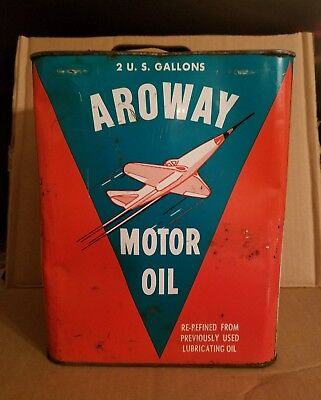 Aroway Motor Oil Can Jet Airplane Great Graphics