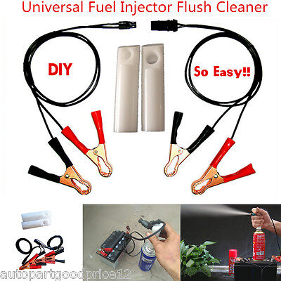 Universal Auto Car Fuel Injector Flush Cleaner Adapter DIY Kit Vehicle Tool Set
