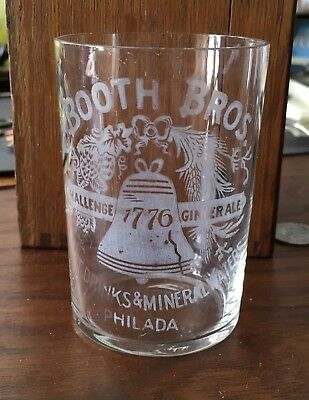 Pre Prohibition Era Booth Brothers Bros Philadelphia Pa Glass Pre Pro Etched
