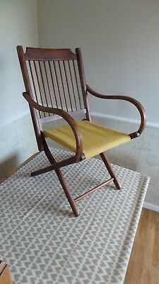 Excellent Folding Victorian/edwardian/arts And Crafts Chair.