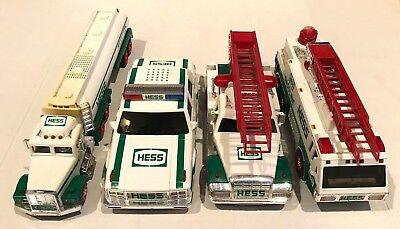 4PC Lot of 4 Hess Trucks Collectibles Gasoline Fire Tanker 1990 1993 1994 Lot B