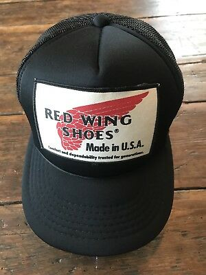 Vtg Red Wing Shoes Trucker Hat Mesh Snap Back 1970 s 1980 s Redwing Boots  Retro 5690ff6e0ab