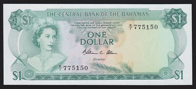 Bahamas 1974 One 1 Dollar P-35b CU UNC Currency Note Caribbean Paper Money