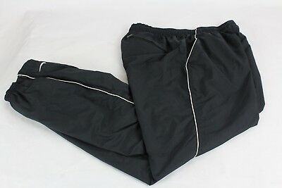 Vtg Nike Women's S Black Swishy Lined Nylon Athletic Track Pants size Small 4-6