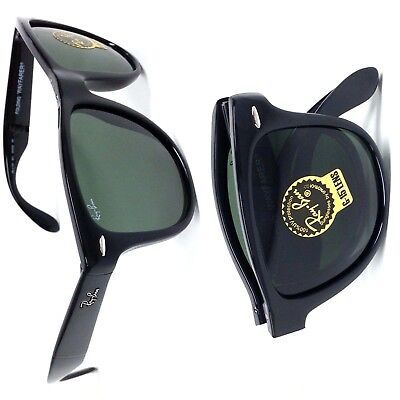 79c8a57dc0ab2 RAY-BAN RB4105 FOLDING Wayfarer Black Havana Authentic 100%UV Made ...
