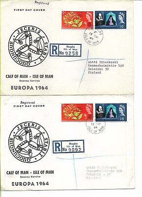 GB Islands Europa FDC for Calf of Man and Davaar Island