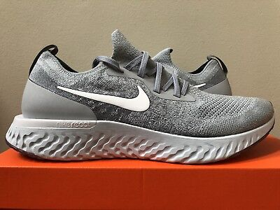 60359eaaa382 NIKE EPIC REACT Flyknit Wolf Grey AQ0067-002 Size 8-13 LIMITED ...