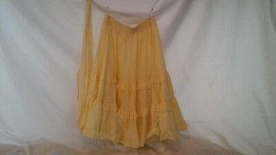 Square Dance Costume Partners Please Malco Modes Layered Yellow Skirt Small