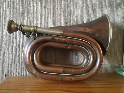 antique henry keat and sons four turn bugle prize medal cyclist /cycling bugle