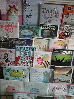 50 top every day cards, wholesale joblot greeting cards