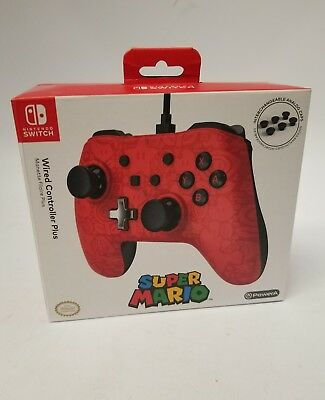 Nintendo Switch Wired Controller Plus Super Mario. New, Sealed Box.