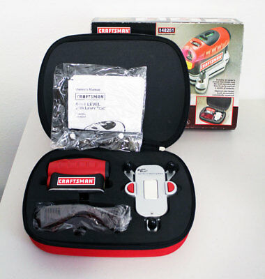 Craftsman 4-in-1 Laser Trac Level Model 948251 with Zippered Case AS UNUSED