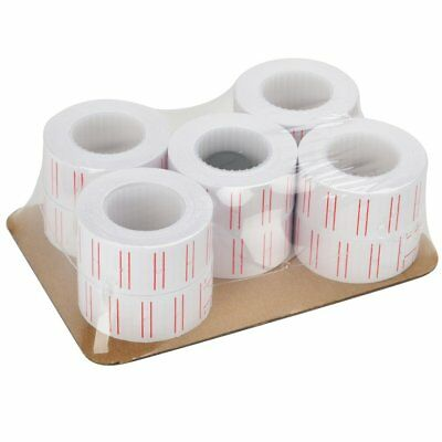 10 Rolls 6000 Pieces Label Paper Refill - Mx-5500 Price Gun Labeller US Shipping