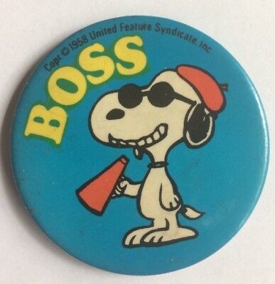 1960's Butterfly Originals SNOOPY ~  Pin ~ Boss Movie Director pinback button