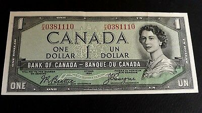 "1954 Canada 1 dollar Devils face P/A 0381110 collector-grad ""  High grade"