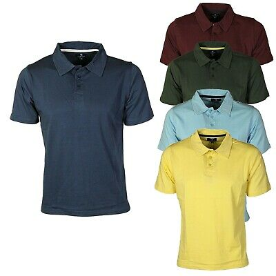 Carson Mens Polo Shirt Casual Slim Fit Short Sleeve T Shirts Pique Tee New Golf