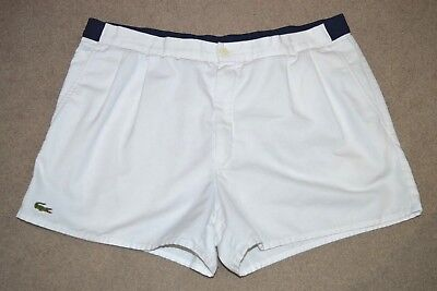 CHEMISE LACOSTE TENNIS SHORTS OLDSCHOOL VINTAGE THE BUSINESS CASUALS 70s 80s XL