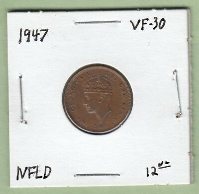 1947 Newfoundland One Cent Coin - VF-30