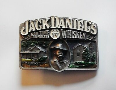 Jack Daniels belt buckle - Old No7 brand Whiskey Old Time Tennessee