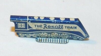 Vintage metal The Rexall Train Advertising Premium Toy