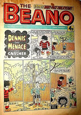 The Beano Comic Book Number 1720 July 5th 1975 Classic Vintage British Comic