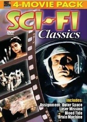 NEW Sci-Fi Classics 4 Movie Pack (DVD, 2005) Digitally Remastered!—Space Theme