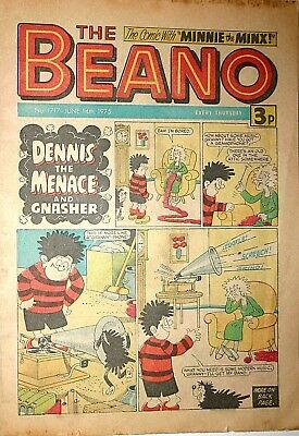 The Beano Comic Book Number 1717 June 14th 1975 Classic Vintage British Comic