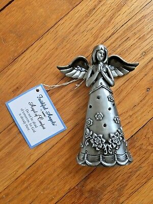 Faithful Angels By Ganz Angel of Comfort Pewter Figurine Floral and Heart