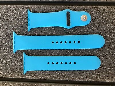 Authentic 42mm Blue Genuine Apple Watch Sport Band S/M & M/L Free Ship