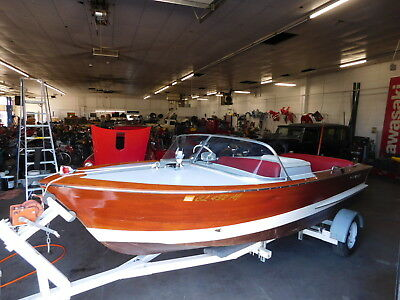 Vintage ONE OF 270 1963 Chris Craft 17' Custom Ski Boat W Trailer 283 V8 10 Hrs