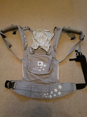 ergobaby original 3 way carrier - hip, front, back carry - grey stars rrp £99