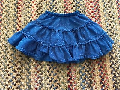 Girls Hanna Andersson Tulle Tier Skirt Size 80 2T Blue