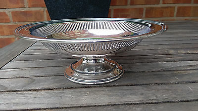 Stunning Mappin & Webb Silver Plated Footed Pierced Fruit Bowl