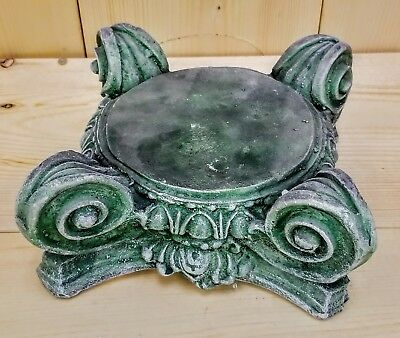 "8"" Greek Roman Ionic Capital Scamozzi Ionian Riser Column Green Finish"