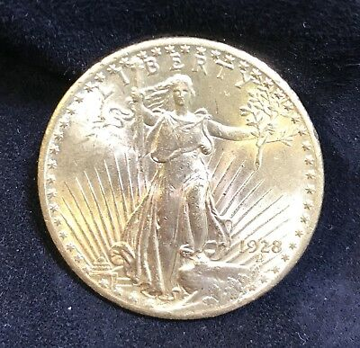 1928-p St Gaudens $20 Gold Double Eagle Mint State Select Unc
