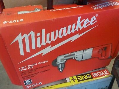 Milwaukee 3107-6 7 Amp 1/2 in. Corded Heavy Right-Angle Drill Kit