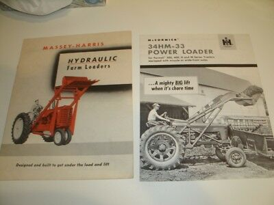 Vintage 1950's ? Tractor Loader Brochures Massey Harris and McCormick