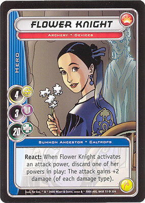City of Heroes CCG 70-Card Tourney Deck (Flower Knight)