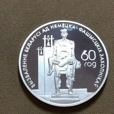 2004 Belarus 20 Roubles Silver Colorized Memory of Fascism's Victims