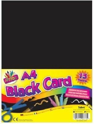 A4 Black Activity Card 15 Sheets Art Paper Craft Office Collage Use