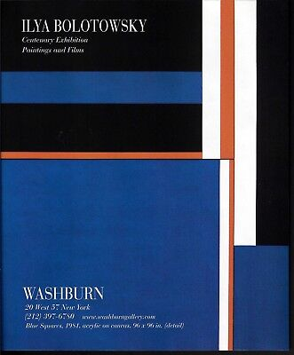 2007 Ilya Bolotowsky Art Blue Squares Gallery Centenary Exhibition Print Ad