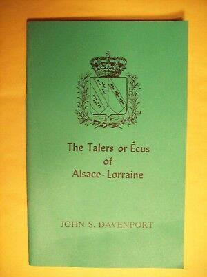 Davenport The Talers or Ecus of Alsace-Lorraine Signed by the Author