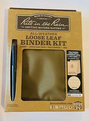 RITE IN THE RAIN Binder Kit,40 Sheets,Polydura Tan Cover, 9200T-KIT