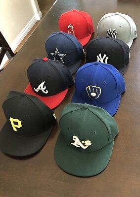 New Era MLB/NFL fitted hat Lot Kids Toddler 8 Hats total all Size 6 1/2