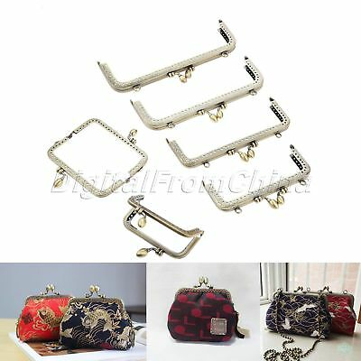 8.5cm-20cm For Coin Purse Handle Wallet Bag Metal Frame Kiss Clasp Bronze Square
