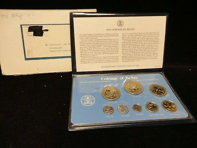 1978 Coinage Of Belize  Coa  Uncirculated Set In Case