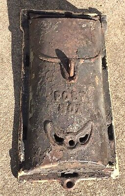 Antique Early 1900's #4 Griswold Cast Iron Mailbox Vintage Wall Mount Mail Slot